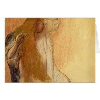 Edgar Degas: Woman Combing Her Hair Card