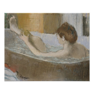 Edgar Degas | Woman in her Bath, Sponging her Leg Poster