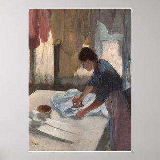 Edgar Degas | Woman Ironing, c.1876-87 Poster