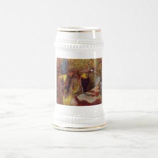 Edgar Degas Woman @ Toilet Brush Hair 1894 Vanity Beer Stein