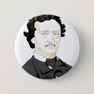 Edgar Poe 6 Cm Round Badge
