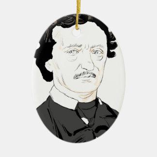 Edgar Poe Ceramic Ornament