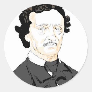 Edgar Poe Classic Round Sticker