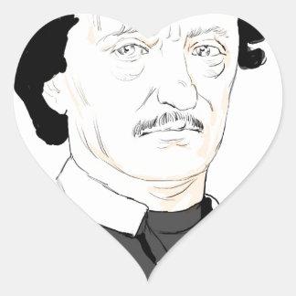 Edgar Poe Heart Sticker