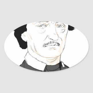 Edgar Poe Oval Sticker