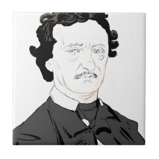 Edgar Poe Small Square Tile