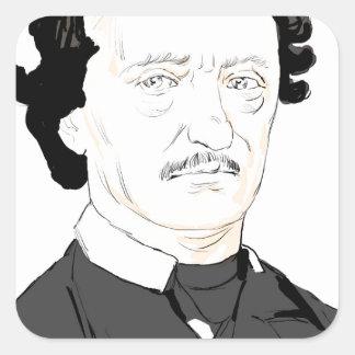 Edgar Poe Square Sticker