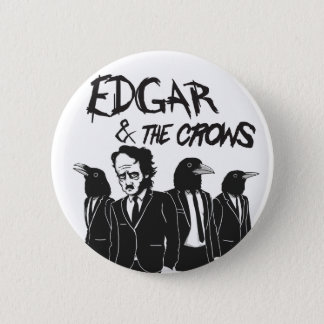Edgar & The Crows 6 Cm Round Badge