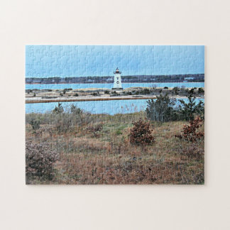 Edgartown Harbor Lighthouse, Martha's Vineyard MA Jigsaw Puzzle