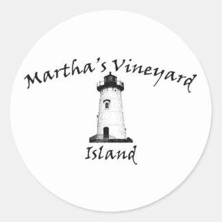 Edgartown Light Round Sticker