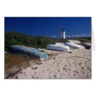 Edgartown Lighthouse and Boats Card