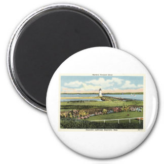 Edgartown Lighthouse Martha's Vineyard c1925 6 Cm Round Magnet