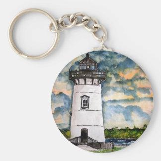 Edgartown Lighthouse Marthas Vineyard Keychain