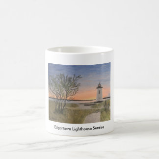 Edgartown Lighthouse Sunrise Basic White Mug