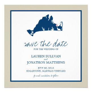 Edgartown Martha s Vineyard Wedding Save the Date Custom Invitation