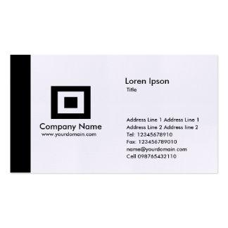 Edge - Black Business Card Template