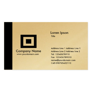 Edge Gold - Black Business Cards