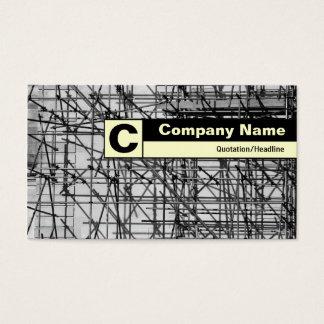 Edge Labeled Monogram - Scaffolding Business Card
