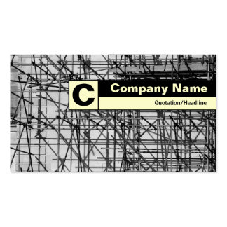 Edge Labeled Monogram - Scaffolding Pack Of Standard Business Cards