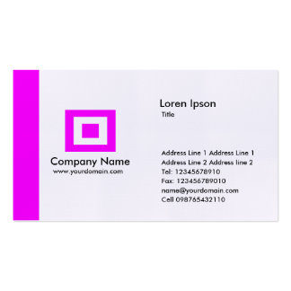 Edge - Magenta Business Card