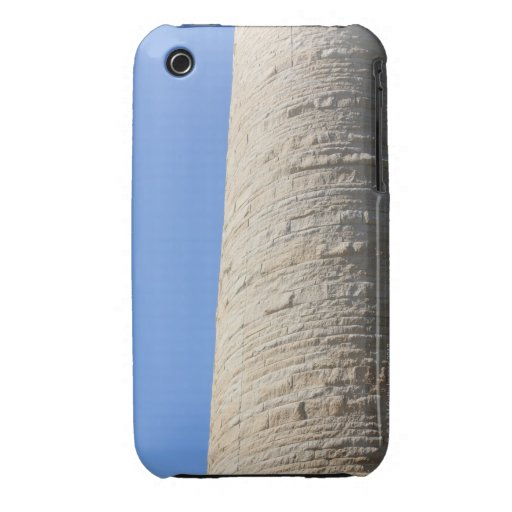 Edge of a building with unique masonry iPhone 3 Case-Mate cases