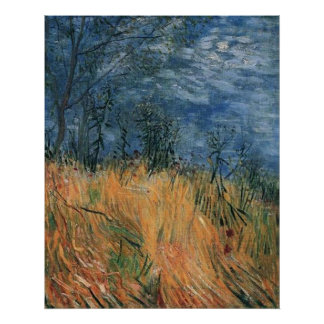 Edge Of a Wheat field With Poppies 1887, van Gogh Poster