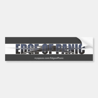 Edge of Panic Bumper Sticker