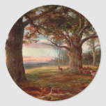 Edge of Sherwood Forest Round Stickers