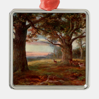 Edge of Sherwood Forest Silver-Colored Square Decoration