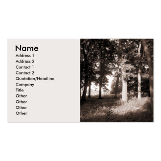 Edge of the Woods - Customized Pack Of Standard Business Cards
