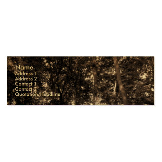 Edge of the Woods - Gold Business Card Templates