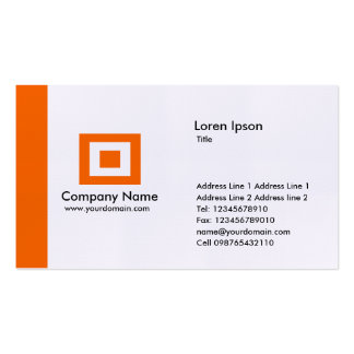 Edge - Orange Double-Sided Standard Business Cards (Pack Of 100)