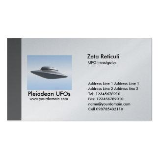 Edge UFO Investigator - Gray Business Card Templates