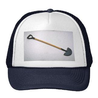 Edging shovel trucker hat