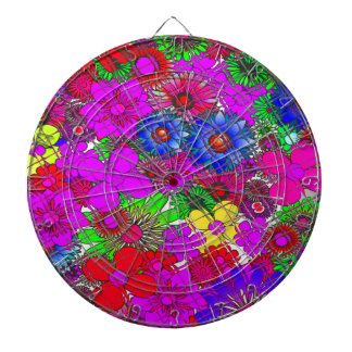 Edgy Beautiful colorful amazing floral pattern des Dartboard