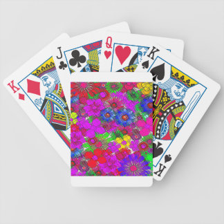 Edgy Beautiful colorful amazing floral pattern des Poker Deck
