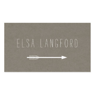 Edgy Bohemian Arrow with Handwritten Text II Pack Of Standard Business Cards