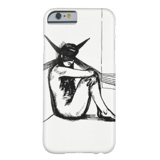 Edgy Graphic Tattoo Art of Demonic Woman in Shadow Barely There iPhone 6 Case
