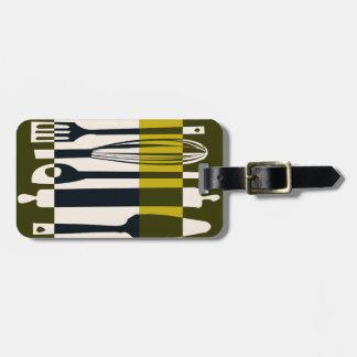 Edgy Modern Kitchen Utensils Luggage Tag