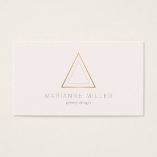 Edgy Rose Gold Triangle Logo on Light Pink