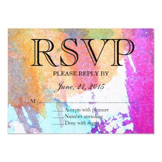 Edgy Watercolor 11 Cm X 16 Cm Invitation Card
