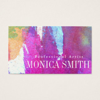 Edgy Watercolor Business Card