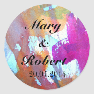 Edgy Watercolor Classic Round Sticker