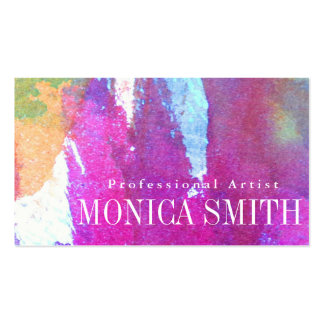 Edgy Watercolor Pack Of Standard Business Cards
