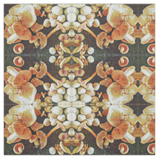 Edible Mushrooms Kaleidoscope Fabric