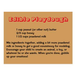 Edible Playdough Postcard