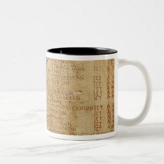 Edict of Emperor Diocletian Two-Tone Coffee Mug