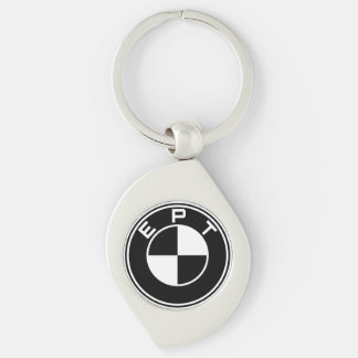 Edina Parkour Team Keychain 2014: Car Edition Silver-Colored Swirl Key Ring