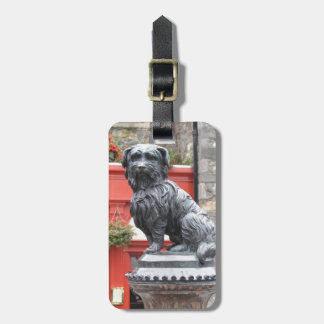 Edinburg, Scotland Cute Dog Statue Luggage Tag