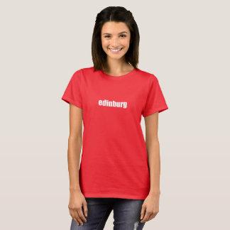 Edinburg, Texas White on Red T-Shirt
